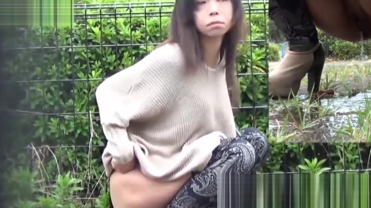 Dirty babes flood Japanese streets with piss solo