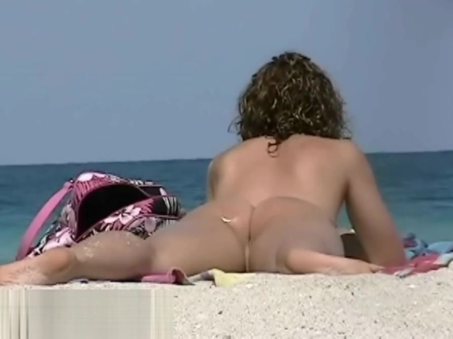 Undressed Beach Sexy Aged Erect Smiles on the nudist beach