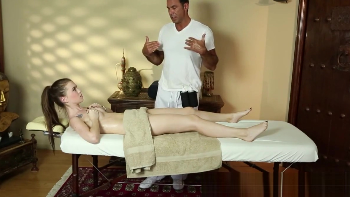 Lovely beauty deepthroats the masseur