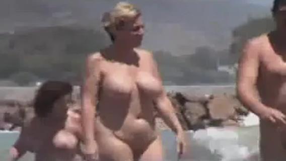 nude beach with fat broads 2