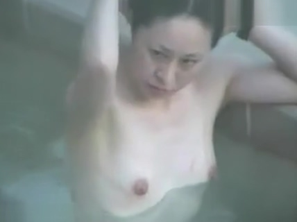 Outdoor bath girls naked