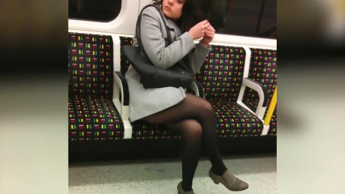 pantyhose girls in metro