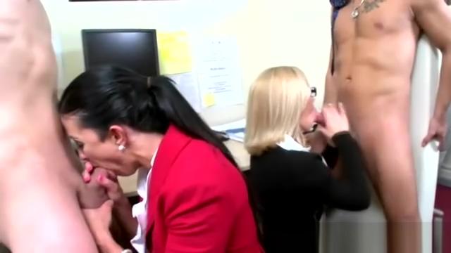 Office secretaries enjoying cfnm