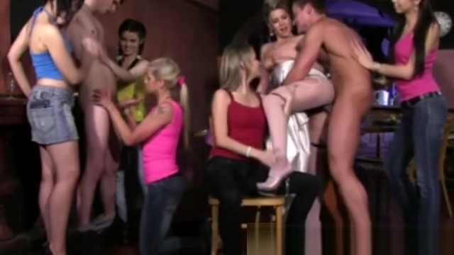 The strippers shows everyone a good time on their hen night