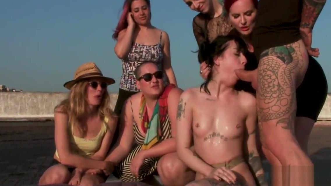 Lezdom torment of alt lesbian outdoor