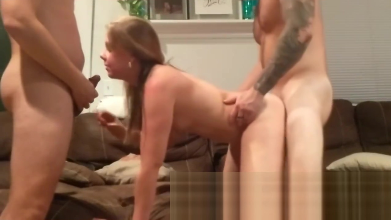 College Girl Tag Teamed By Frat Boys Upstairs