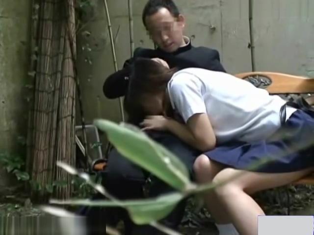 Voyeur camera bench sex exposed