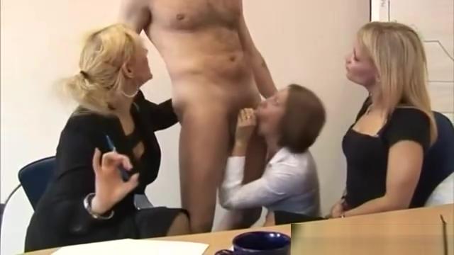 Three sluts grade how suckable his cock actually is for them