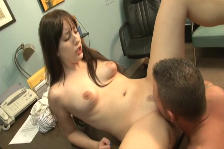 Brunette Babe Sucks And Rides A Big Dick On Desk