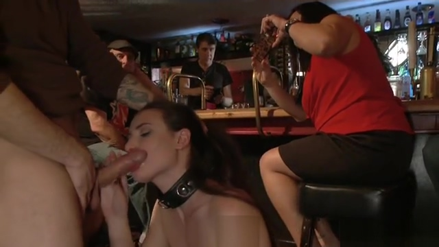 Sex tourist throat banged in public bar