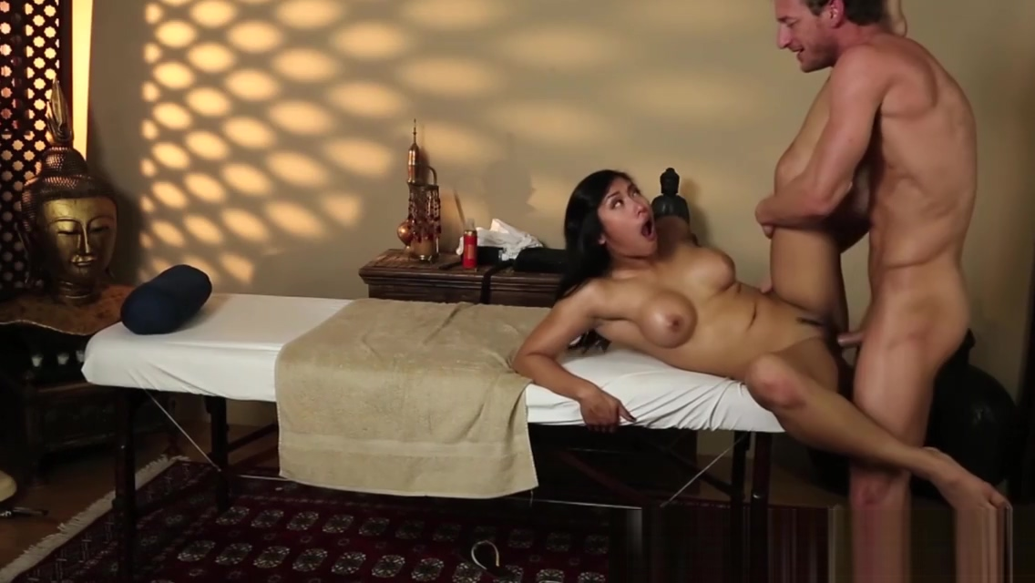 Busty asian babe fucked deeply by masseur
