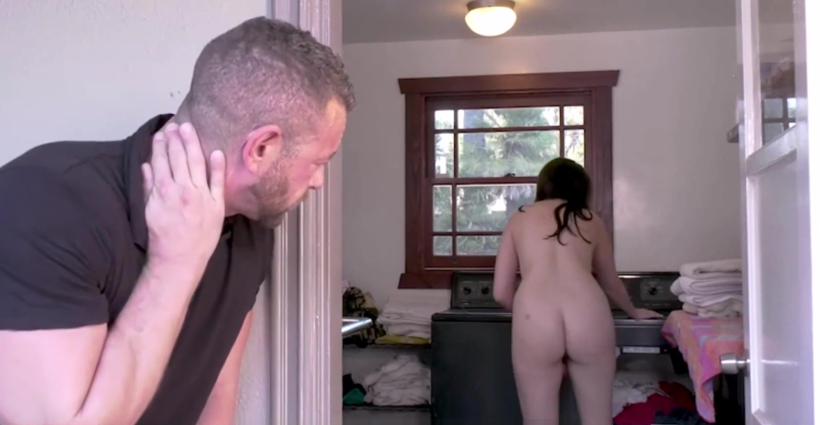 Big Ass Teen Step Daughter Sex With Step Dad In Laundry Room