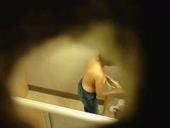 Chicks trying on bras caught by hidden camera in changing rooms