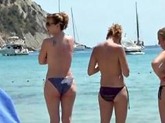 incredible sister beach topless ibiza