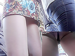 Hot upskirt will make you happy with sexy thongs