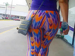 Big Thick Colombian Ass in Tye Dye Spandex-