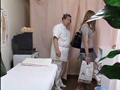 Voyeur massage video of hot Japanese broad getting fingered