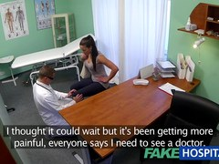 Bawdy mother i'd like to fuck sex junkie receives screwed by the doctor during the time that her spouse waits