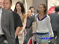Candid Asian babes shot from behind on my voyeur cam dvd DRNC-26