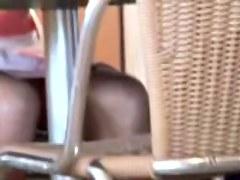 Girl in the café erotic peek of the seducing fresh panty ADB2
