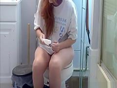 American girl in funny pants