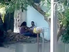 Public sex on sidewalk