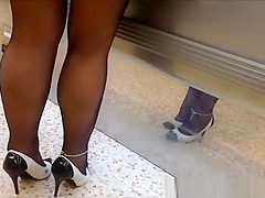 Exhibitionist wife upskirt in supermarket