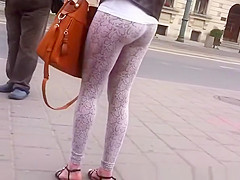 Nice ass teen wearing leggings