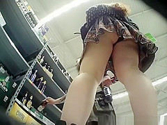 Curly hair girl wearing black panties
