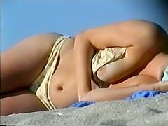 Delicious boob fell out of a bikini