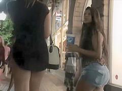 Pissed off girl saw voyeur behind her