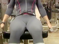 Sweet big ass filmed in the gym