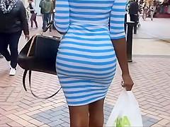 Fancy black chick got a nice big butt