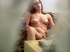 Fun loving neighbor girl gets peeped on
