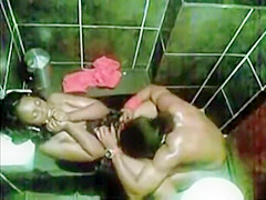 Cheating girl caught in a toilet