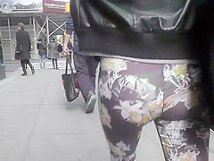 Ginger girl in floral pants