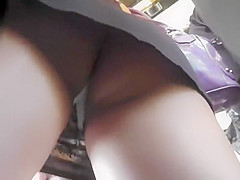 Upskirt of a sexy girl in a mini skirt