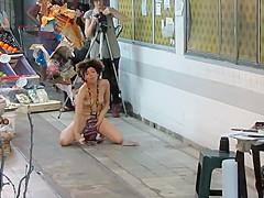 Public nudity as art performance