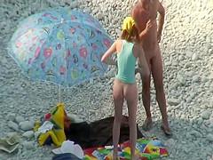 Sweet ass of a tall nudist girl