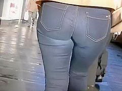 Following a classy woman's ass