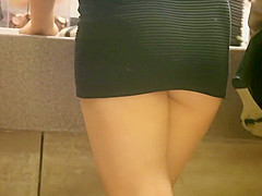 Accidental nudity from miniskirt