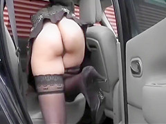 Slutty walk ended with a blowjob