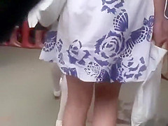 Hot ass found within casual dress