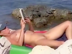 Nudists Beach in Croatia Sexy Wife Doing Nude Sunbathing