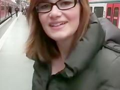 Exhibitionist Couple Makes Sex in Public Train