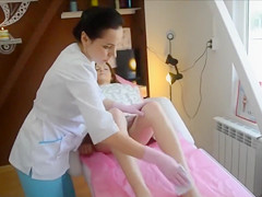 Hair removal treatment for the lovely Russian girl
