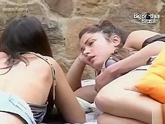 Big Brother participant talks to her attractive friends