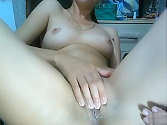 I enjoy making my pussy squirt hard in front of a webcam