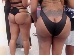 Sexy black women with big asses celebrate the Memorial Weekend in Miami