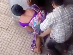 Public doggystyle quickie with an Indian girl